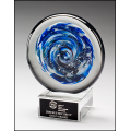 2294    Blue and White Disc Art Glass Award